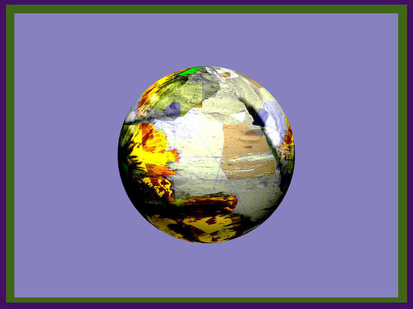 Planet Poster featuring the digital art Vivid Planet by Elisabet Bondesson