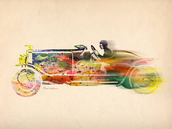 Car Poster featuring the digital art Volkswagen by Mark Ashkenazi