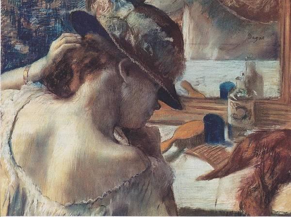 Edgar Degas Poster featuring the digital art Vor Dem Spiegel by Edgar Degas
