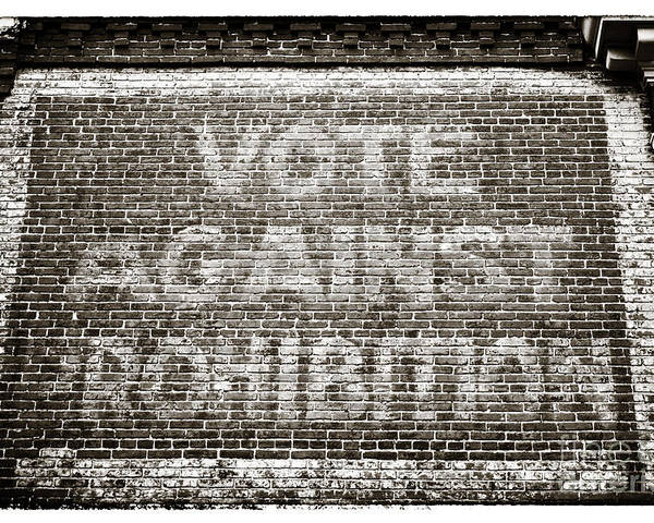 Vote Against Prohibition Poster featuring the photograph Vote Against Prohibition IIi by John Rizzuto