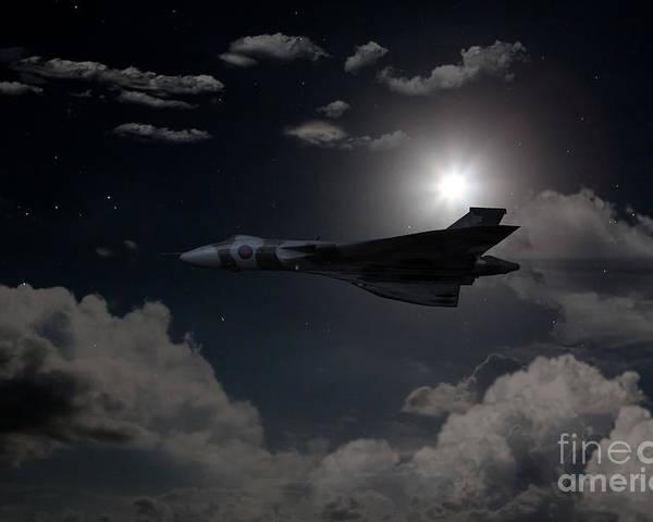 Avro Poster featuring the digital art Vulcan Moon by J Biggadike