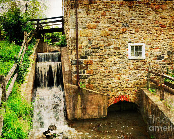 Mill Poster featuring the photograph Wagner Grist Mill by Paul Ward