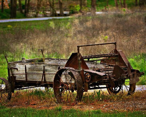 Farm Poster featuring the photograph Wagon by Marty Koch
