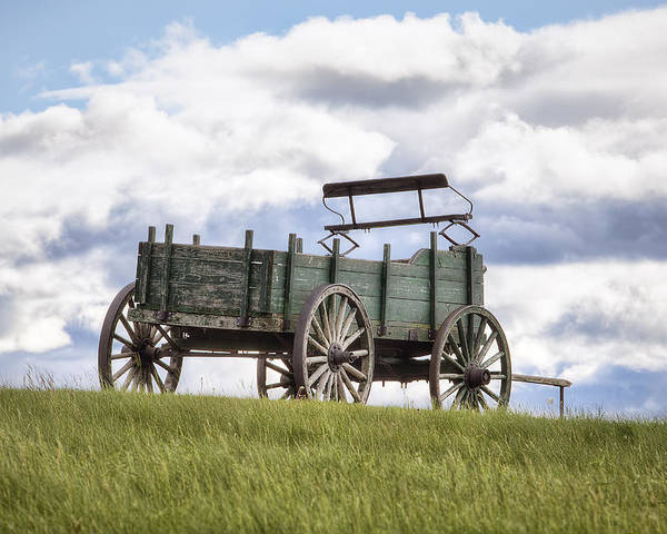 Wagon On A Hill Poster featuring the photograph Wagon On A Hill by Eric Gendron