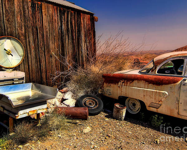 Car Poster featuring the photograph Waiting on a Woman by Brenda Giasson