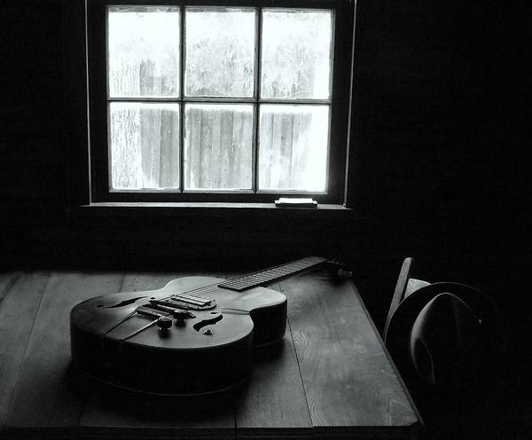 Guitar Poster featuring the photograph Waiting To Play by EG Kight
