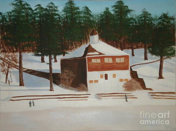 Winter Poster featuring the painting Walden Pond by Janet C Stevens