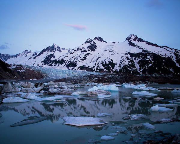 Alaska - Usa State Poster featuring the photograph Walker Glacier, Alaska by Glenn Oakley