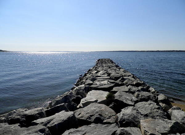 Narragansett Bay Poster featuring the photograph Walkway To Heaven by Kate Gallagher