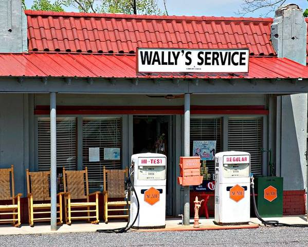 Wally's Service Station Poster featuring the photograph Wally's Service Station Mayberry Nc by Bob Pardue