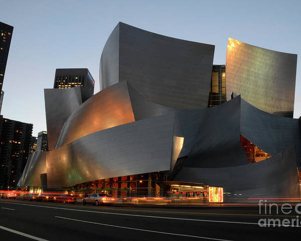 Bob Poster featuring the photograph Walt Disney Concert Hall 21 by Bob Christopher