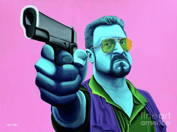 The Big Lebowski Paintings Poster featuring the painting Walter by Ellen Patton