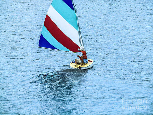 Blue Water Sailing Poster featuring the photograph Wascana-24 by David Fabian