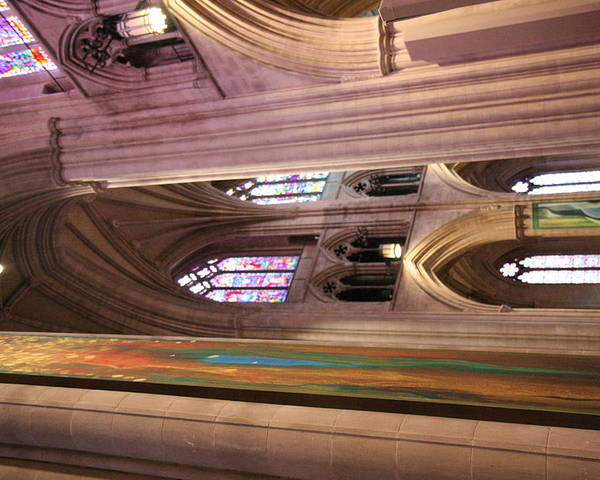 Alter Poster featuring the photograph Washington National Cathedral - Washington Dc - 011382 by DC Photographer