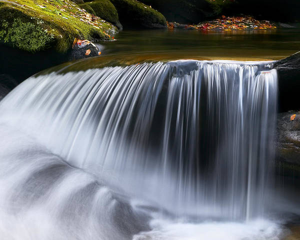 Water Falls Poster featuring the photograph Water Falling Great Smoky Mountains by Rich Franco
