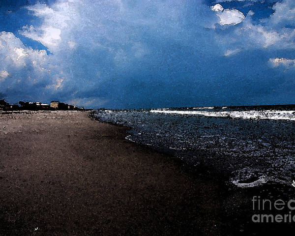 Beach Poster featuring the photograph watercolor Beach by Susanne Van Hulst