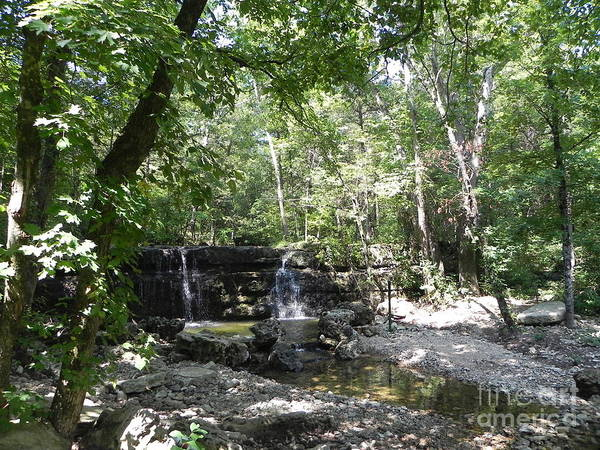Hiking Poster featuring the photograph Waterfall Trail by Julie Kind
