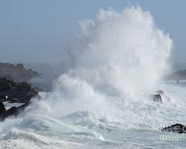 California Poster featuring the photograph Wave At Salt Point by Bob Christopher