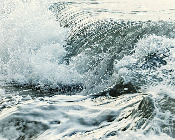 Wave Poster featuring the photograph Waves In Stormy Ocean by Elena Elisseeva
