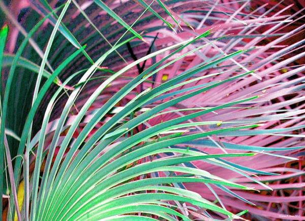 Waves Of Palm Poster featuring the digital art Waves Of Palm by Maria Urso