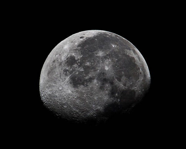 Moon Poster featuring the photograph Waxing Moon by Nila Newsom