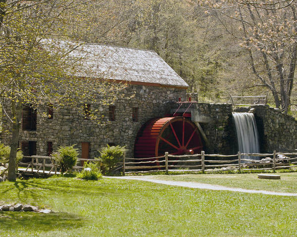 Wayside Grist Mill Poster featuring the photograph Wayside Grist Mill 6 by Dennis Coates