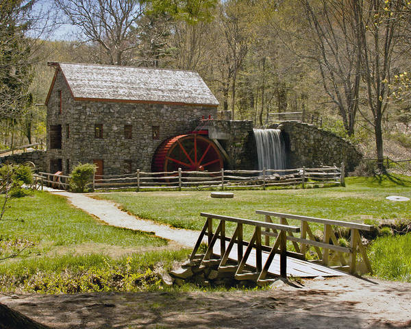 Wayside Grist Mill Poster featuring the photograph Wayside Grist Mill 8 by Dennis Coates