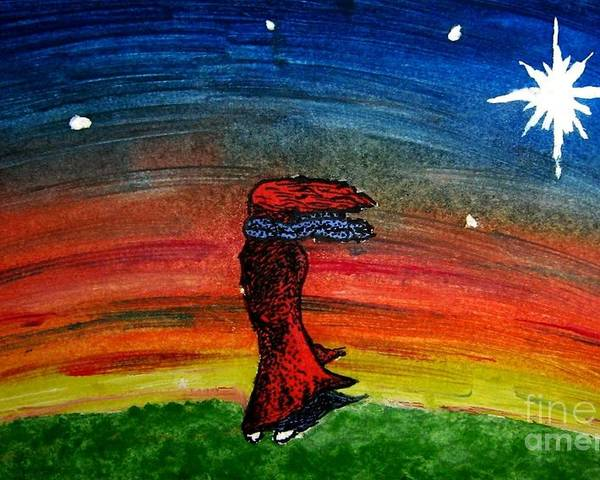 Stars Poster featuring the painting We Are All Made Of Stars by Elizabeth Garton