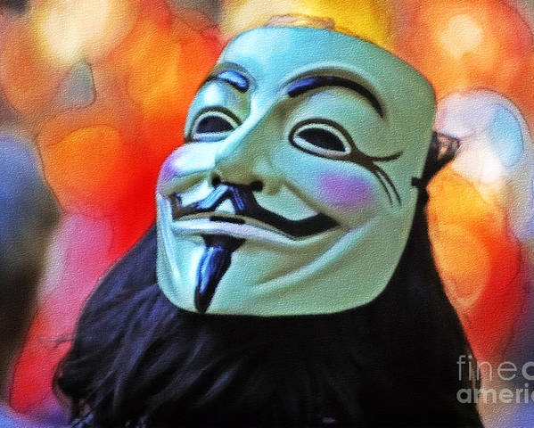 Anonymous Poster featuring the photograph We Are The 99 by Stefano Senise