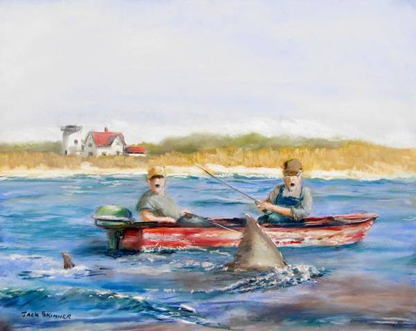 Boat Poster featuring the painting We Need A Biggah Boat by Jack Skinner