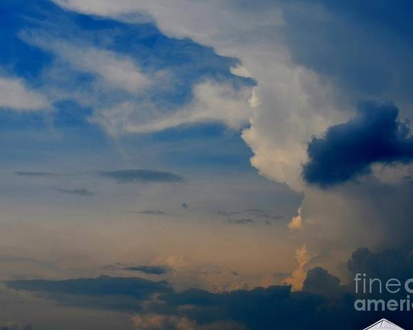 Cloudy Poster featuring the photograph Weather Rising by Brenda Dorman