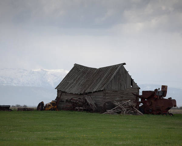 Landscape Poster featuring the photograph Weathered Barn by John Richardson