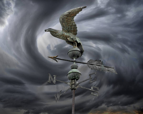 Navigation Poster featuring the photograph Weathervane by Steven Michael