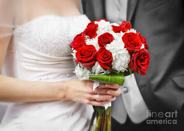 Bouquet Poster featuring the photograph Wedding by Elena Elisseeva