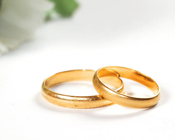 Symbol Poster featuring the photograph Wedding Rings by Michal Bednarek