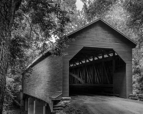 Covered Bridge Poster featuring the photograph Weems Bottom by Pat Scanlon