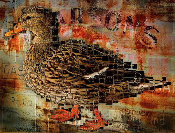 Duck Poster featuring the digital art Weird Duck by Cindi Finley Mintie