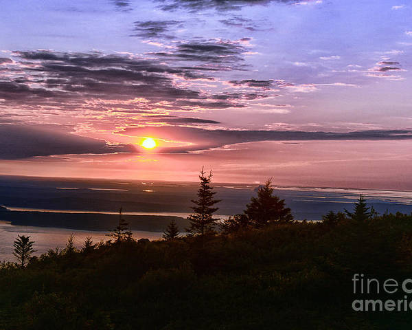 Sunrise Poster featuring the photograph Welcoming A New Day by Arnie Goldstein