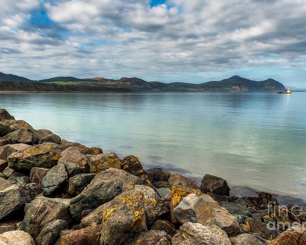 Hdr Poster featuring the photograph Welsh Coast by Adrian Evans