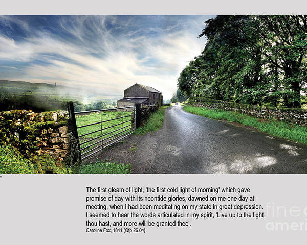 Wensleydale Poster featuring the photograph Wensleydale Road by Mike Hoyle