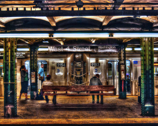 Manhattan Poster featuring the photograph West 4th Street Subway by Randy Aveille
