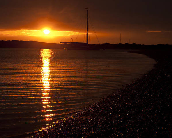 West Mersea Poster featuring the photograph West Mersea Sunset by David Isaacson