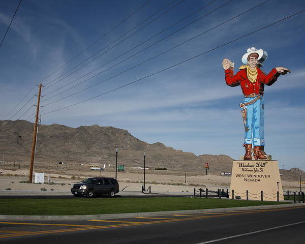 America Poster featuring the photograph West Wendover Nevada by Frank Romeo