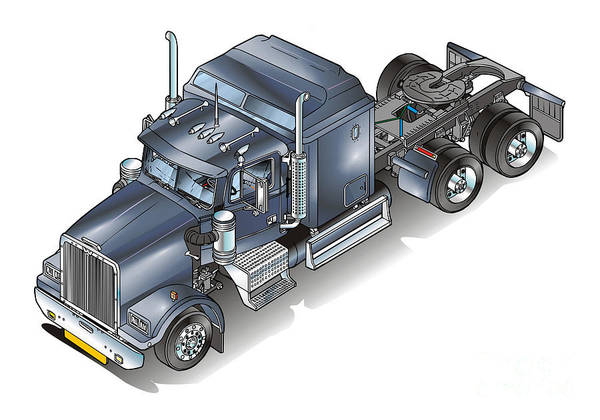 Truck Poster featuring the painting Western Star Tuck by Christian Simonian