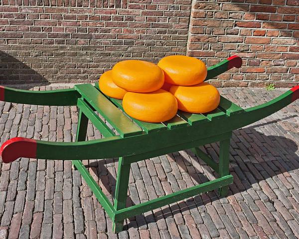 Dutch Poster featuring the photograph Wheels Of Dutch Gouda Cheese by Artur Bogacki