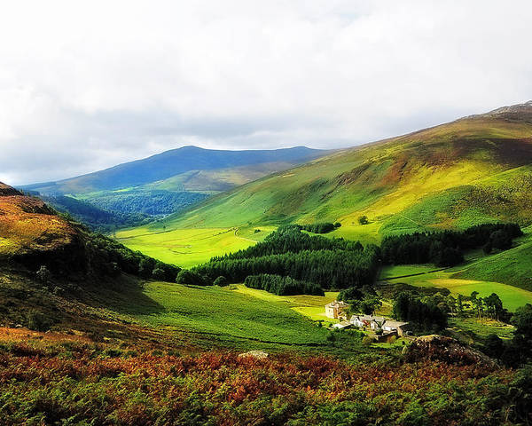Ireland Poster featuring the photograph Where Is Soul Flying. Wicklow Mountains. Ireland by Jenny Rainbow