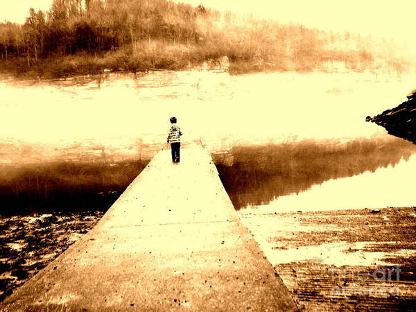 Boy Poster featuring the photograph Where The Sidewalk Ends by Amy Sorrell