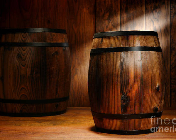 Barrel Poster featuring the photograph Whisky Barrel by Olivier Le Queinec