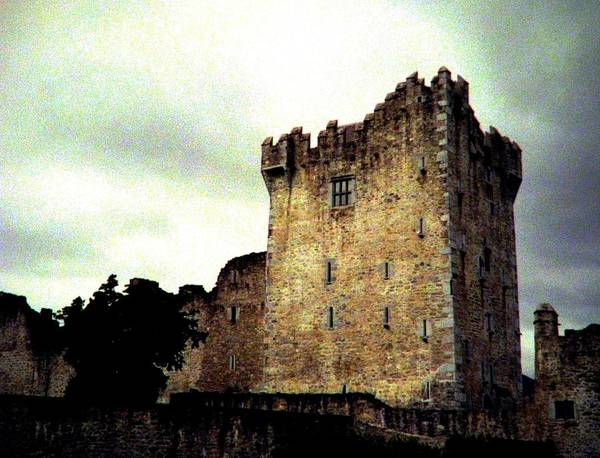 Irish Castle Poster featuring the photograph Whispers And Footsteps by Angela Davies