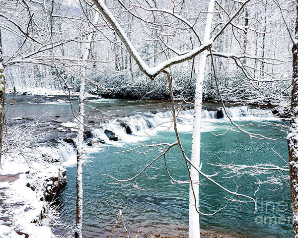 Whitaker Falls Poster featuring the photograph Whitaker Falls In Winter by Thomas R Fletcher